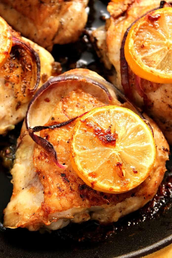 Lemon garlic roasted chicken recipe crunchy creamy sweet lemon chicken 1 lemon garlic roasted chicken recipe forumfinder Image collections