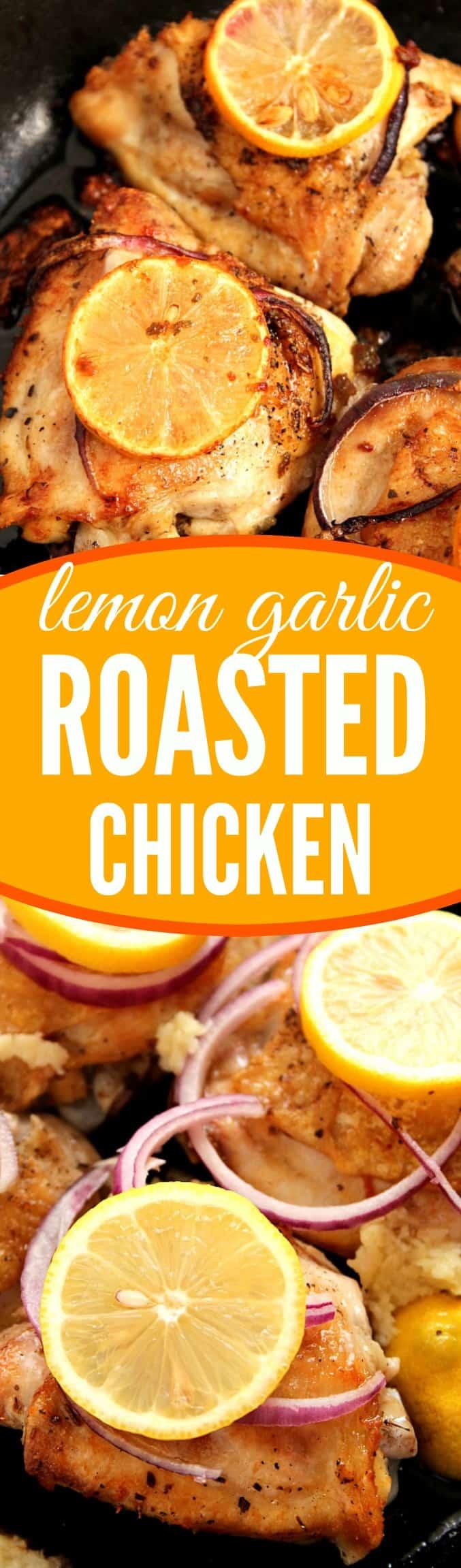 lemon garlic chicken long Lemon Garlic Roasted Chicken Recipe