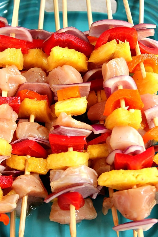 pineapple kabobs 3 Pineapple Chicken Kabobs Recipe
