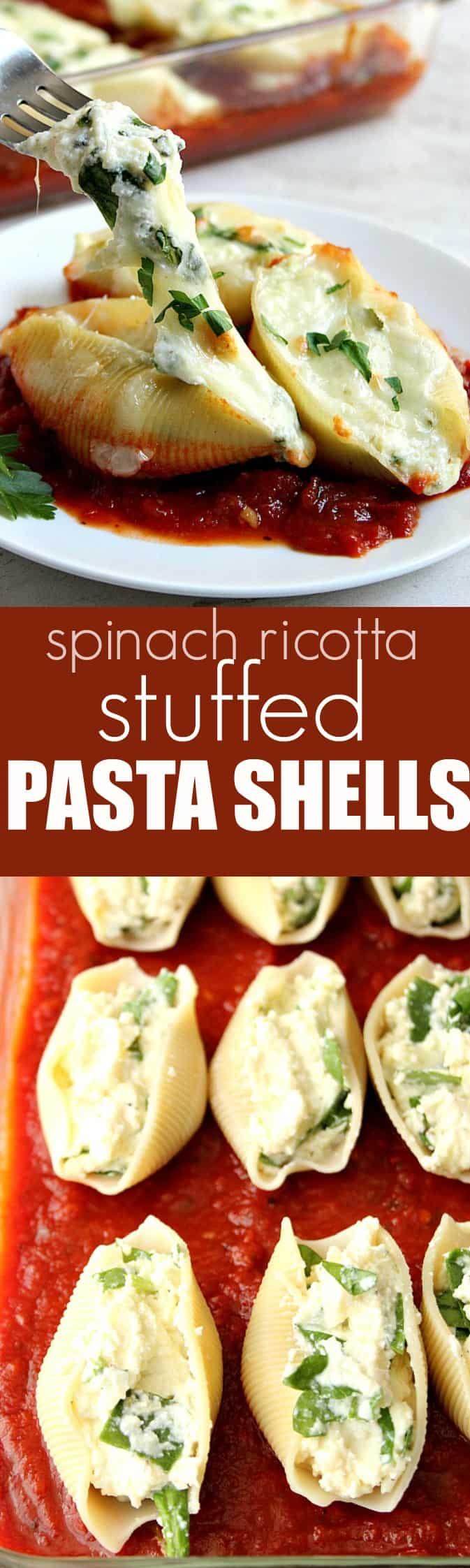 Spinach Ricotta Stuffed Pasta Shells long Spinach and Ricotta Stuffed Pasta Shells Recipe