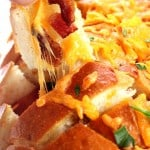 cheddar pull bread 1 150x150 Cheddar Bacon Ranch Pull Apart Bread Recipe