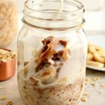 overnight oats 1 150x150 Peanut Butter Banana Overnight Oats Recipe
