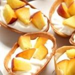 peaches and cream taco boats 3 150x150 Peaches and Cream Dessert Taco Boats Recipe