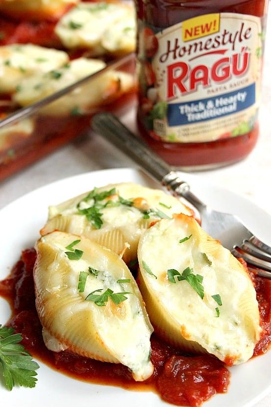 stuffed pasta shells 6 Spinach and Ricotta Stuffed Pasta Shells Recipe