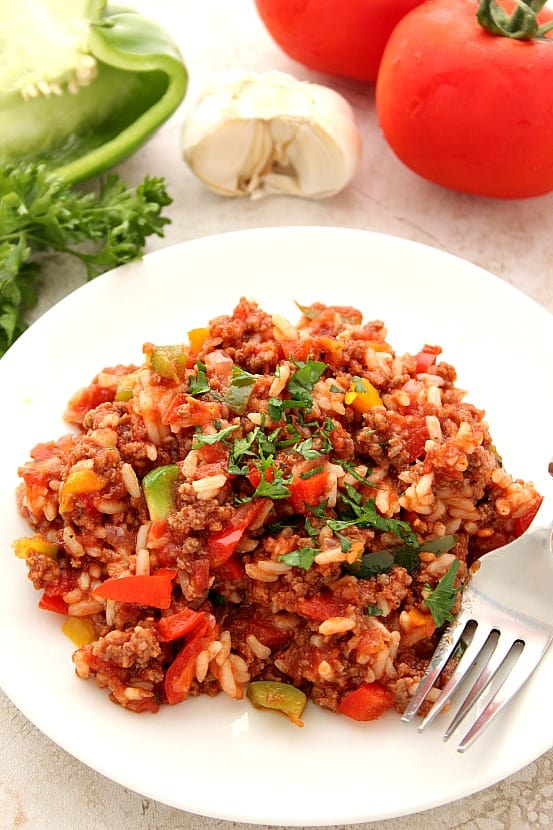 stuffed pepper skillet 7 Stuffed Pepper Rice Skillet Recipe