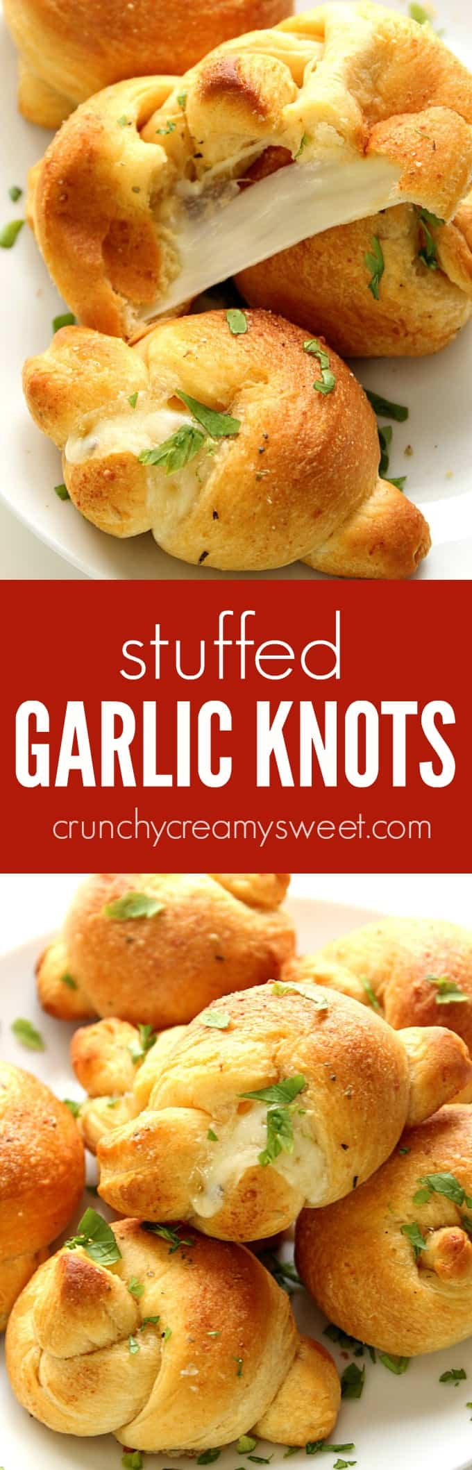 stuffed garlic knots recipe long Stuffed Garlic Knots Recipe