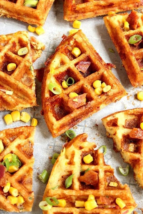 waffles 2 Cheddar Bacon Cornbread Waffles Recipe