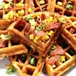 waffles 4 150x150 Cheddar Bacon Cornbread Waffles Recipe