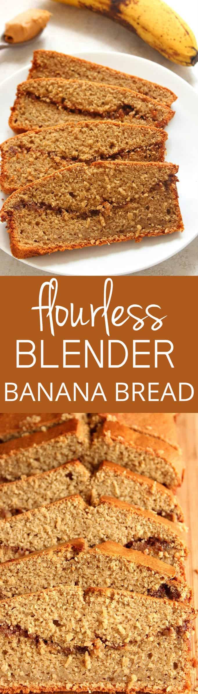 blender bread longA Peanut Butter Banana Blender Bread Recipe