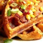cheddar bacon cornbread waffles a 150x150 Cheddar Bacon Cornbread Waffles Recipe