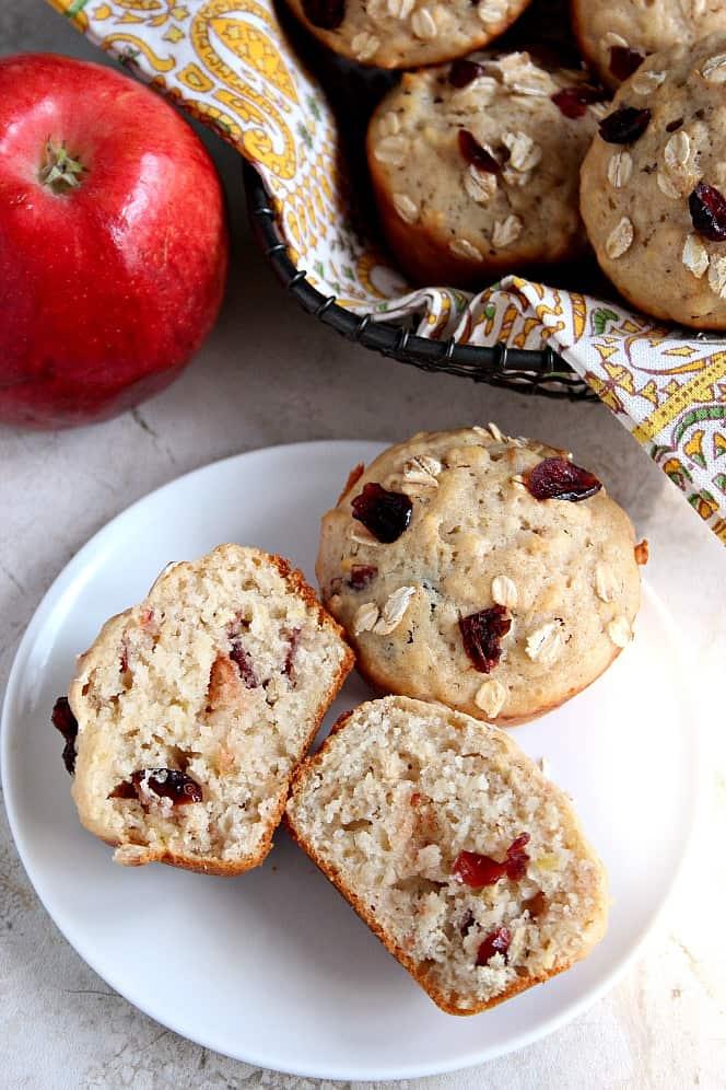 Apple Cranberry Oats muffins recipe Apple Oat Cranberry Muffins Recipe