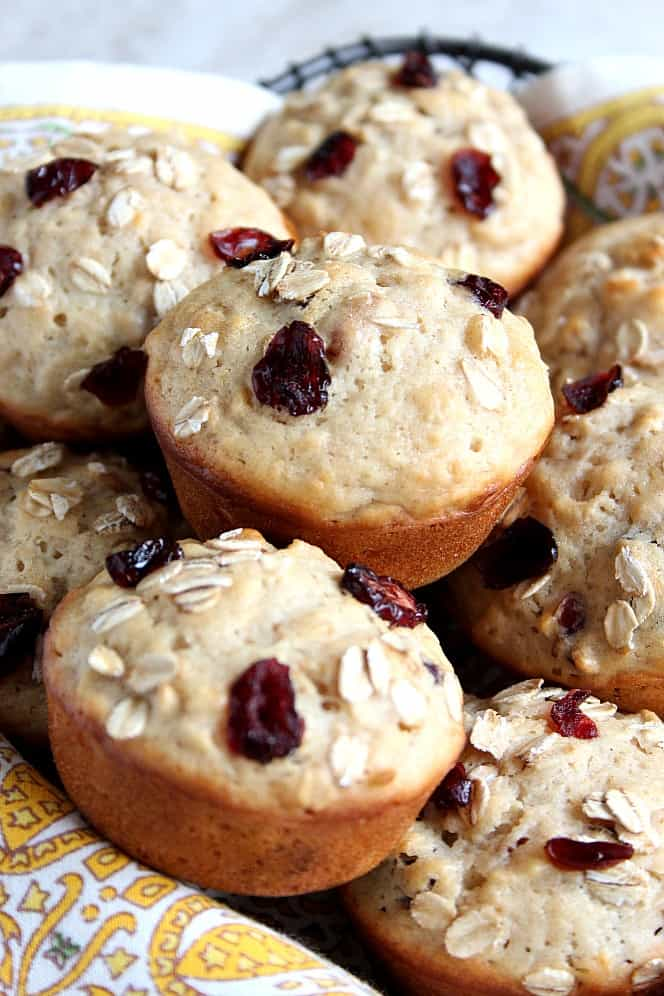 apple craisin muffins 3 Apple Oat Cranberry Muffins Recipe