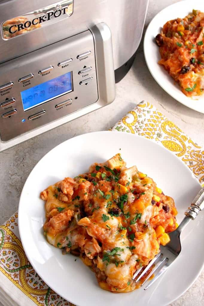 crockpot chicken and rice B 682x1024 Southwestern Crock Pot® Chicken and Rice Recipe