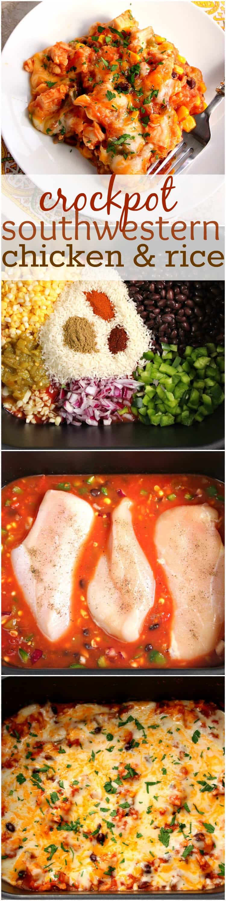 crockpot southwestern chicken and rice recipe Southwestern Crock Pot® Chicken and Rice Recipe
