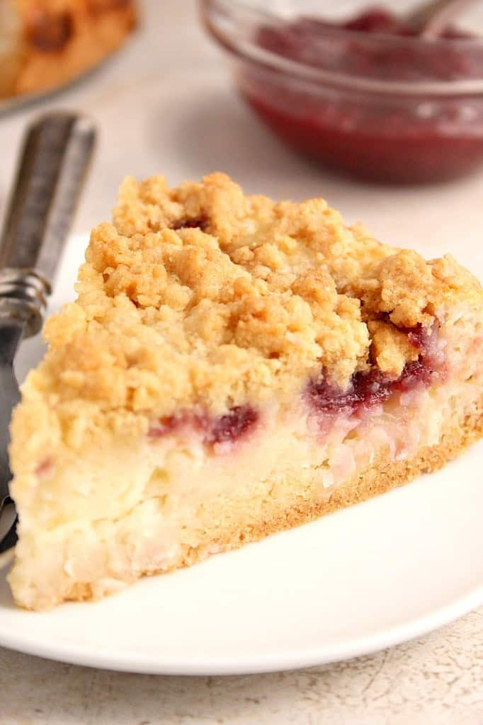 Raspberry Coconut Sour Cream Crumb Pie Recipe – sweet and creamy ...