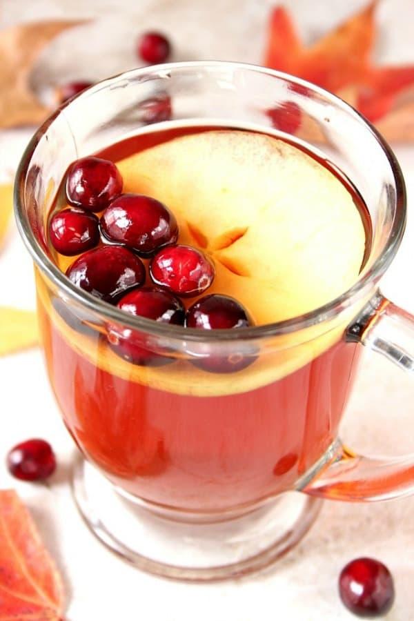 apple cranberry tea a Apple Cranberry Slow Cooker Tea Recipe