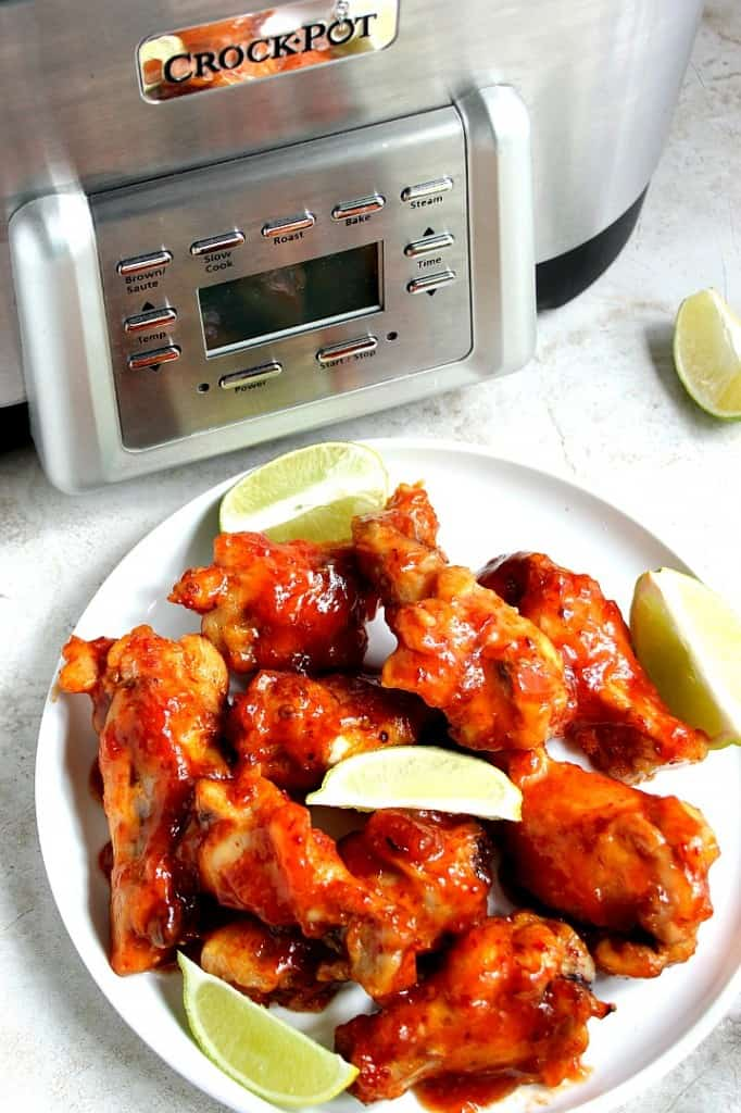 crockpot chicken wings 7 682x1024 Sweet and Spicy Crock Pot® Chicken Wings Recipe