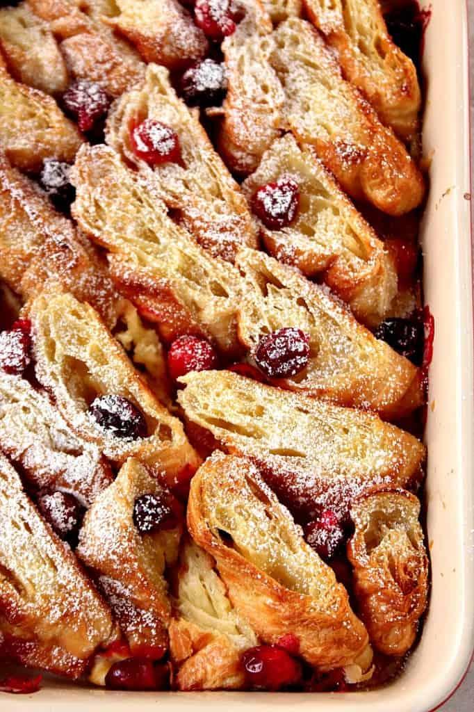 croissant bake 1 682x1024 Orange Cranberry Croissant Bake Recipe