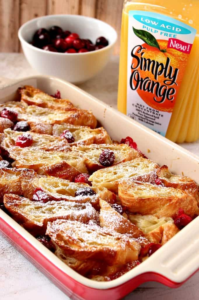croissant bake 3 682x1024 Orange Cranberry Croissant Bake Recipe