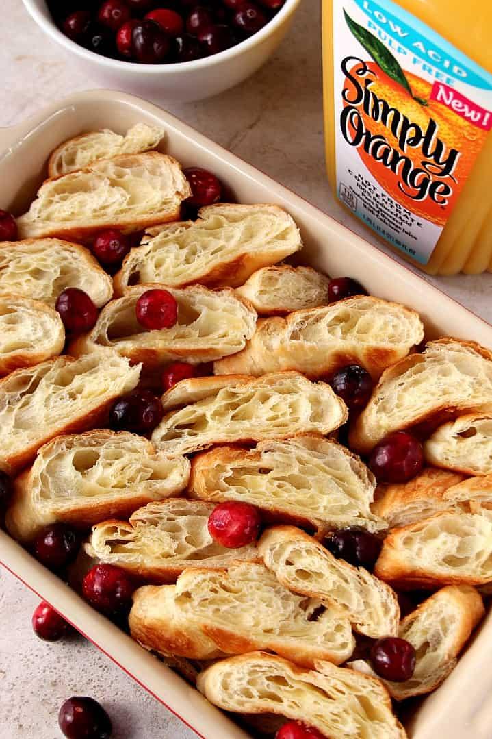 croissant bake 7 Orange Cranberry Croissant Bake Recipe