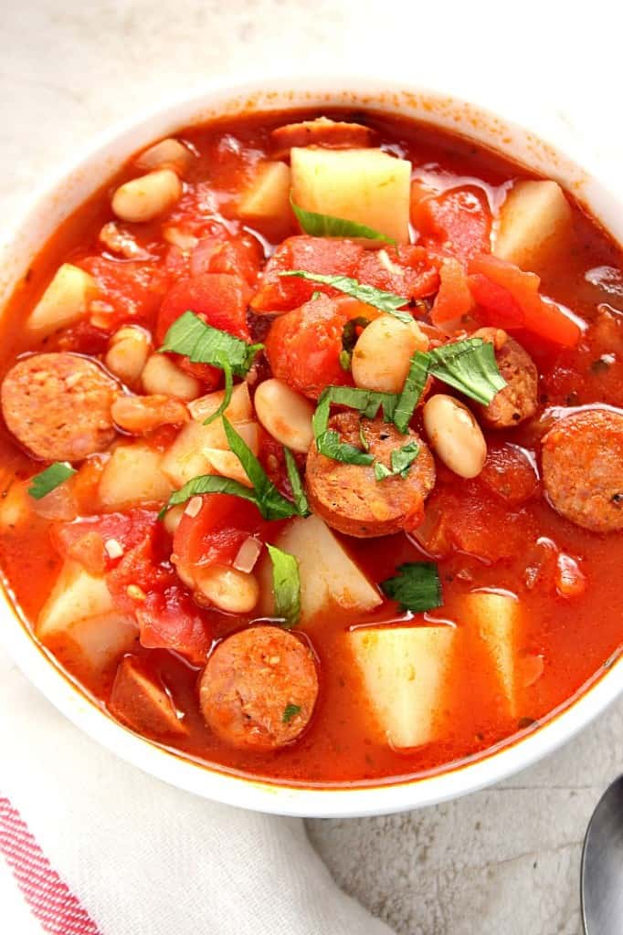 sausage potato soup 2 682x1024 Italian Soup with Sausage and Potatoes Recipe