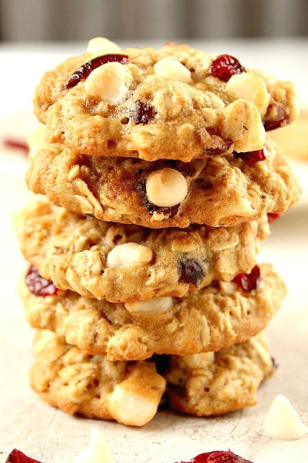 cranberry white chocolate oatmeal cookies a Cranberry White Chocolate Oatmeal Cookies Recipe