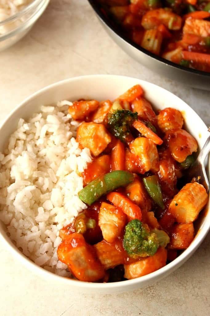 honey chipotle chicken 4 682x1024 Quick Honey Chipotle Chicken Rice Bowls Recipe
