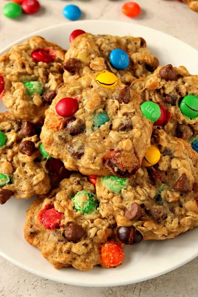 m m chocolate chip oatmeal cookies 3 682x1024 Oatmeal Chocolate Chip M&M Cookies Recipe