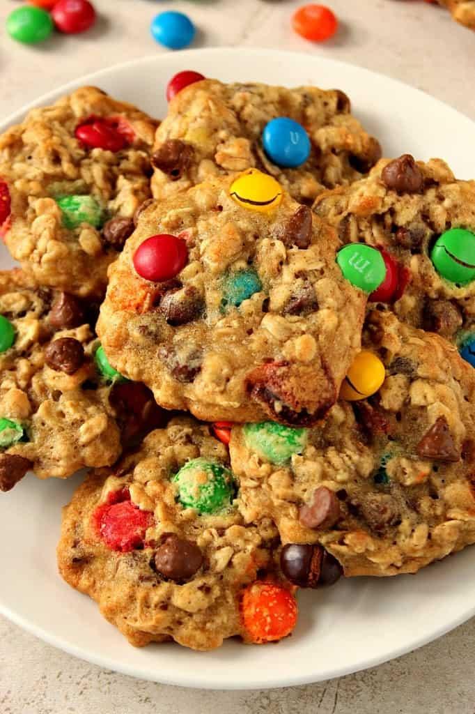 m m chocolate chip oatmeal cookies 3 682x1024 Oatmeal Chocolate Chip M&M Cookies Recipe