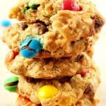mm chocolate chip oatmeal cookies a 150x150 Oatmeal Chocolate Chip M&M Cookies Recipe