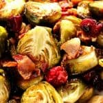 roasted Brussels sprouts recipe a 150x150 Bacon Roasted Brussels Sprouts with Cranberries Recipe