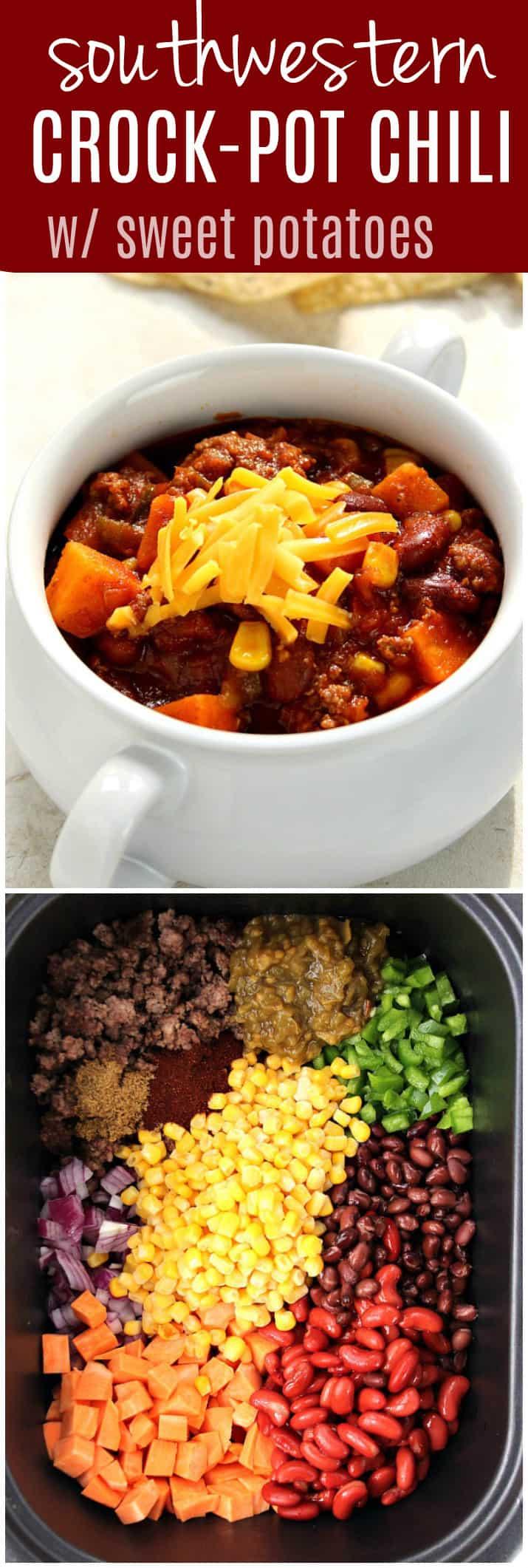 pot chili with sweet potatoes recipe long1 Southwestern Crock Pot ...