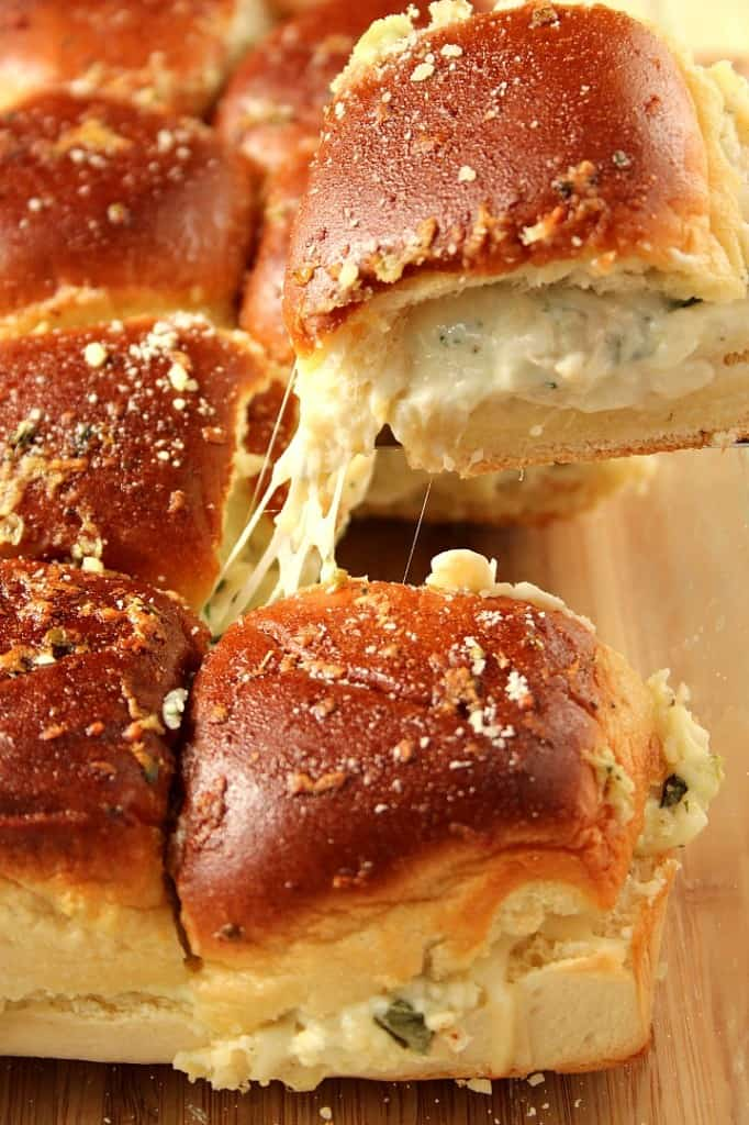 spinach dip sliders 4 682x1024 Cheesy Spinach Artichoke Dip Sliders Recipe
