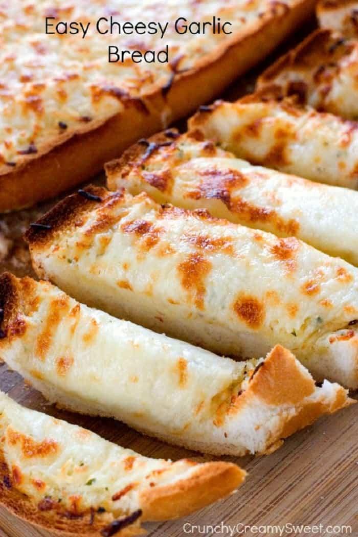 Easy Cheesy Garlic Bread by Crunchy Creamy Sweet blog 13 Easy Cheesy Garlic Bread Recipe Card