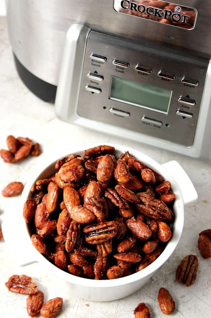 crockpot candied nuts recipe B 682x1024 Crock Pot® Candied Spiced Nuts Recipe