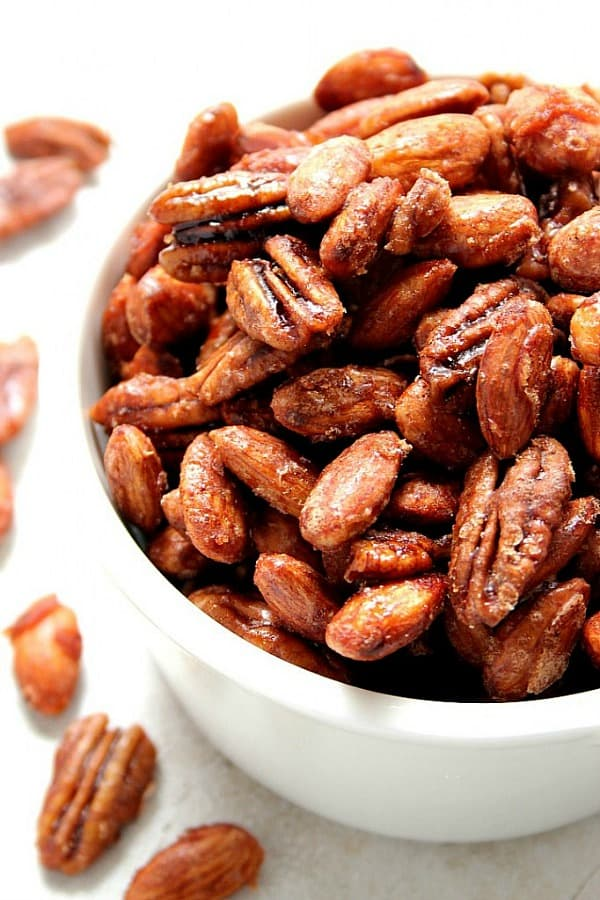 crockpot candied nuts recipe a Crock Pot® Candied Spiced Nuts Recipe