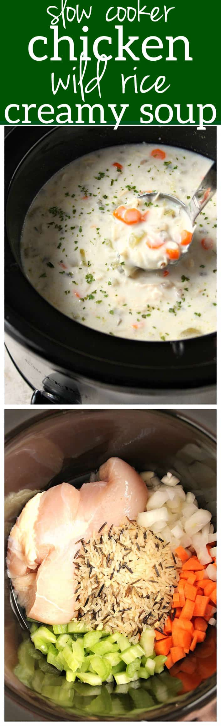1chicken wild rice crock pot soup long Slow Cooker Chicken Wild Rice Soup Recipe