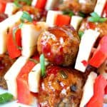 meatball kebobs 1 150x150 Sweet and Spicy Chicken Meatball Kebobs Recipes
