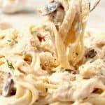 mushroom chicken alfredo a 150x150 Bacon Mushroom Chicken Alfredo Recipe