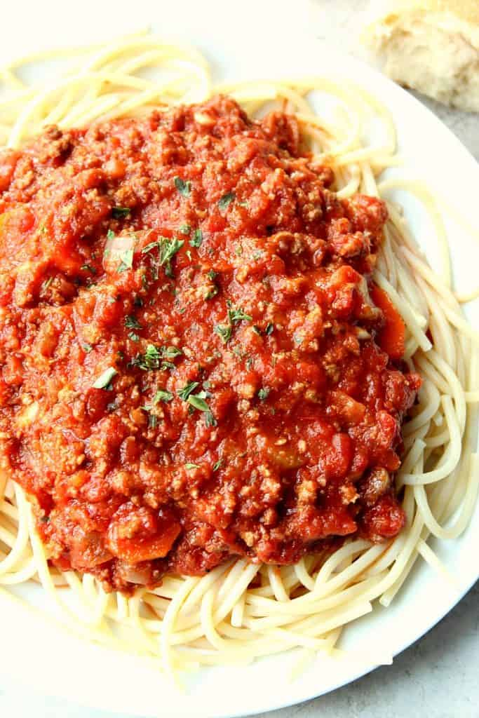 slow cooker bolognese sauce 1 683x1024 Slow Cooker Bolognese Sauce ...