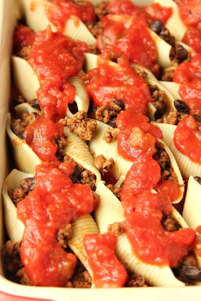 taco stuffed pasta shells 6 683x1024 Taco Stuffed Pasta Shells Recipe