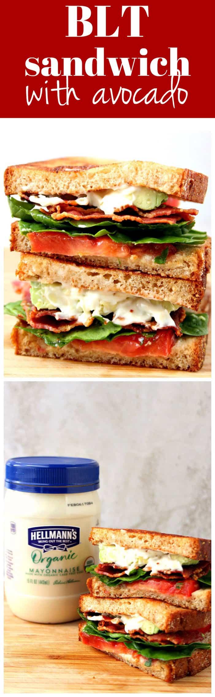 BLT Sandwich with Avocado Recipe long1 BLT Sandwich with Avocado Recipe