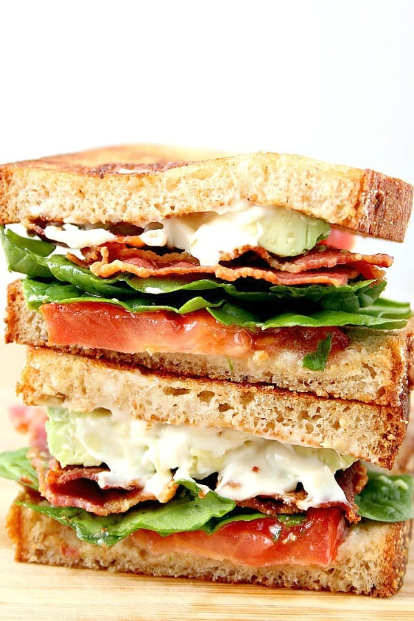 Blt Sandwich With Avocado Recipe Crunchy Creamy Sweet