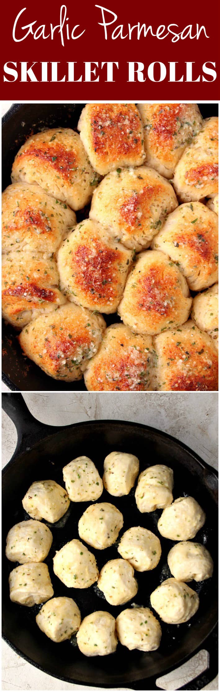 skillet rolls recipe long 1 Garlic Parmesan Skillet Rolls Recipe
