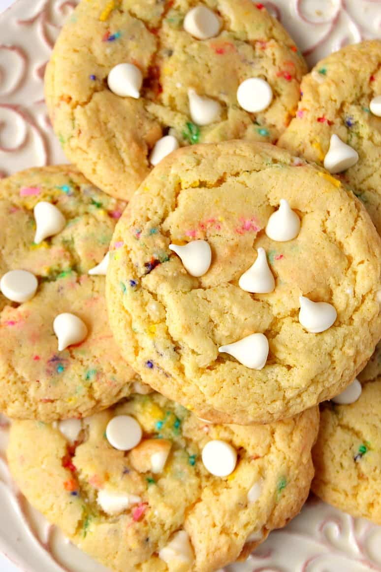 birthday cake mix cookies 3 Cake Mix Cookies