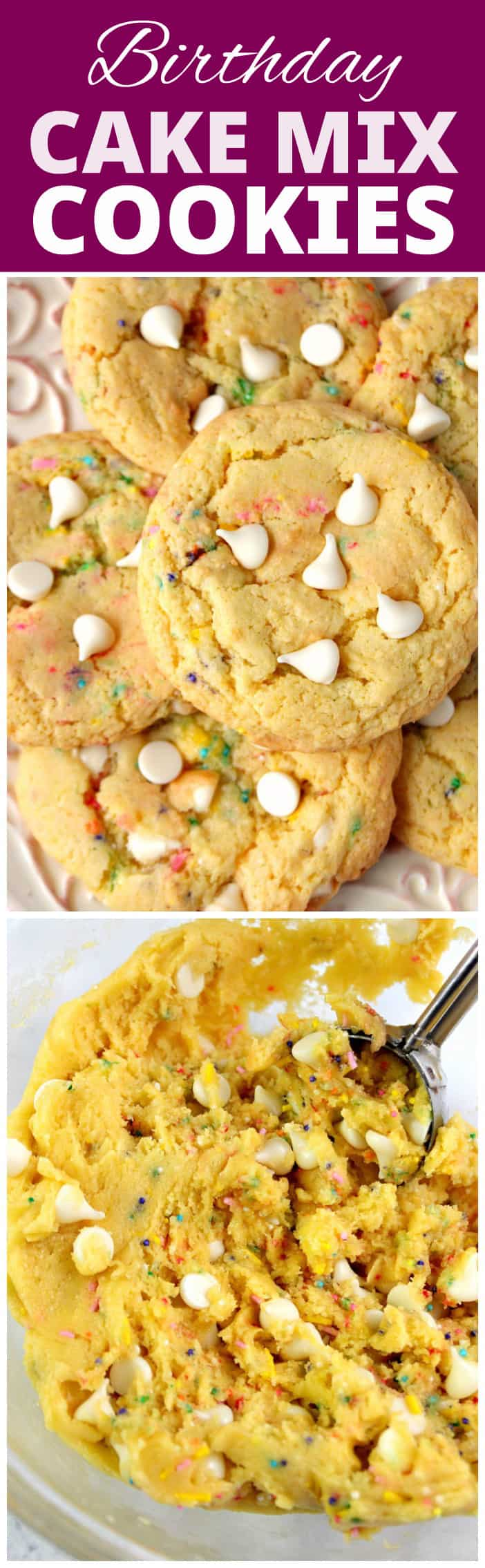 Birthday cake flavored cookie recipe