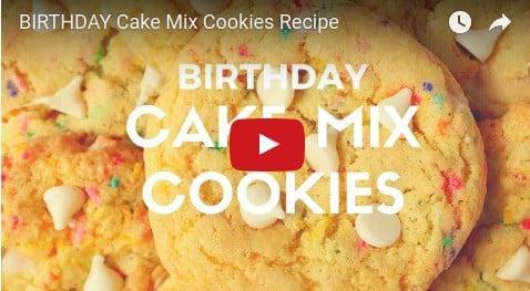 Birthday Cake Mix Cookies Recipe Crunchy Creamy Sweet