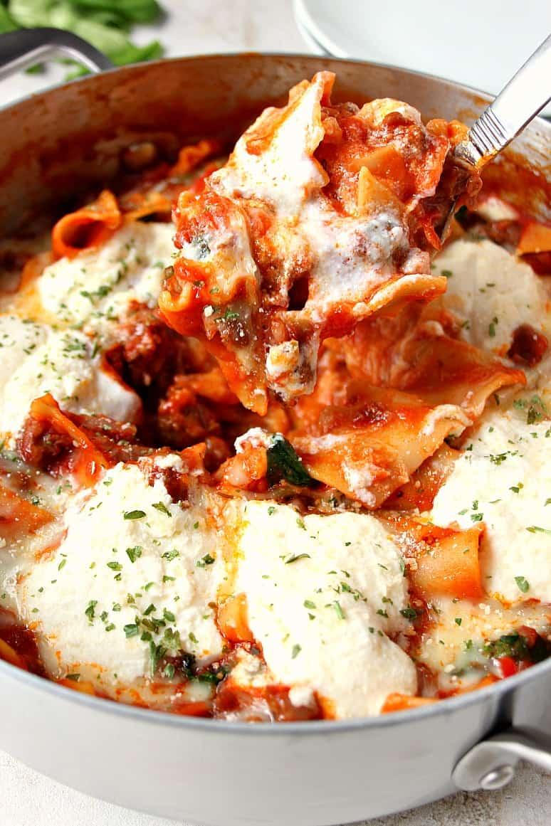 easy one pan lasagna 3 Easy One Pan Lasagna Recipe