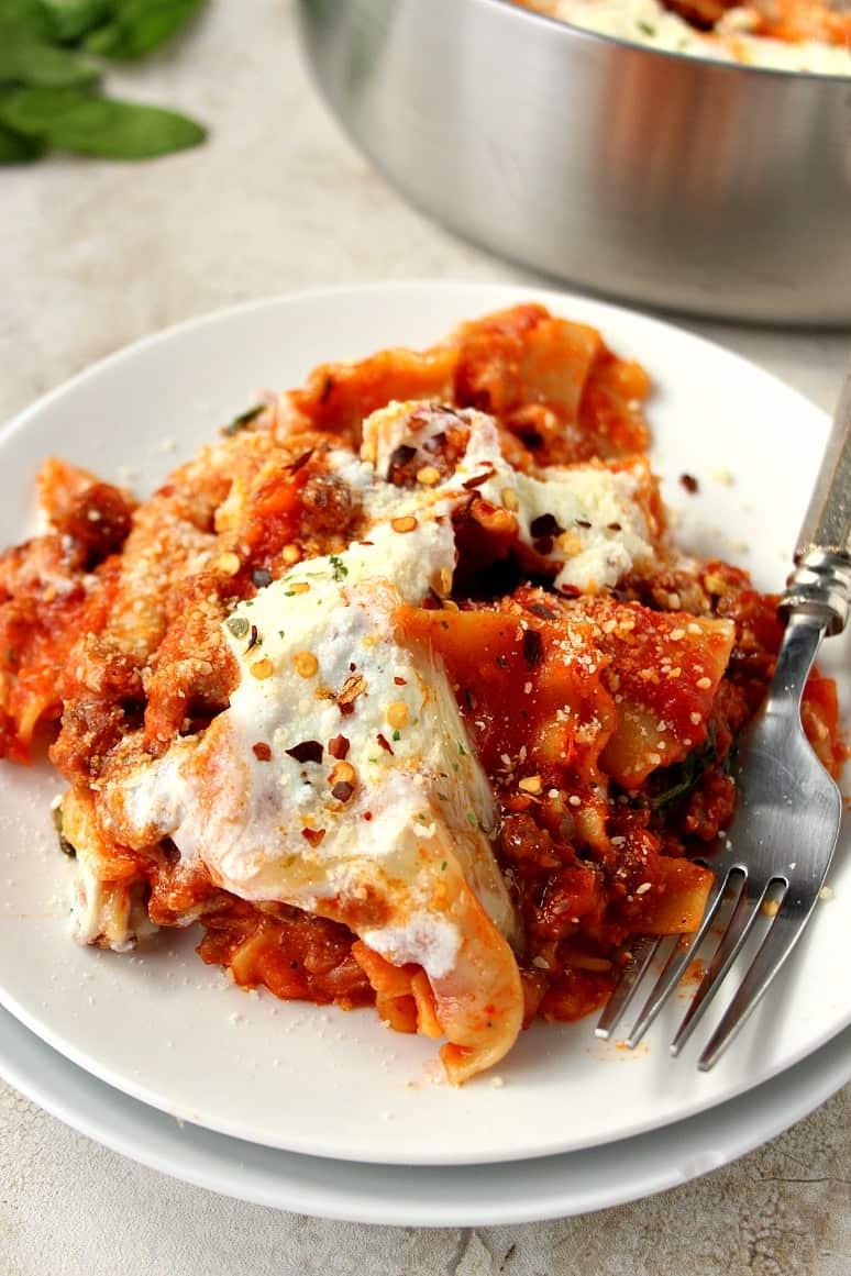 easy one pan lasagna 4 Easy One Pan Lasagna Recipe