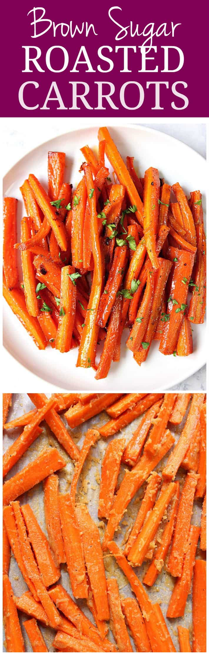 brown sugar roasted carrots recipe long1 Brown Sugar Roasted Carrots Recipe